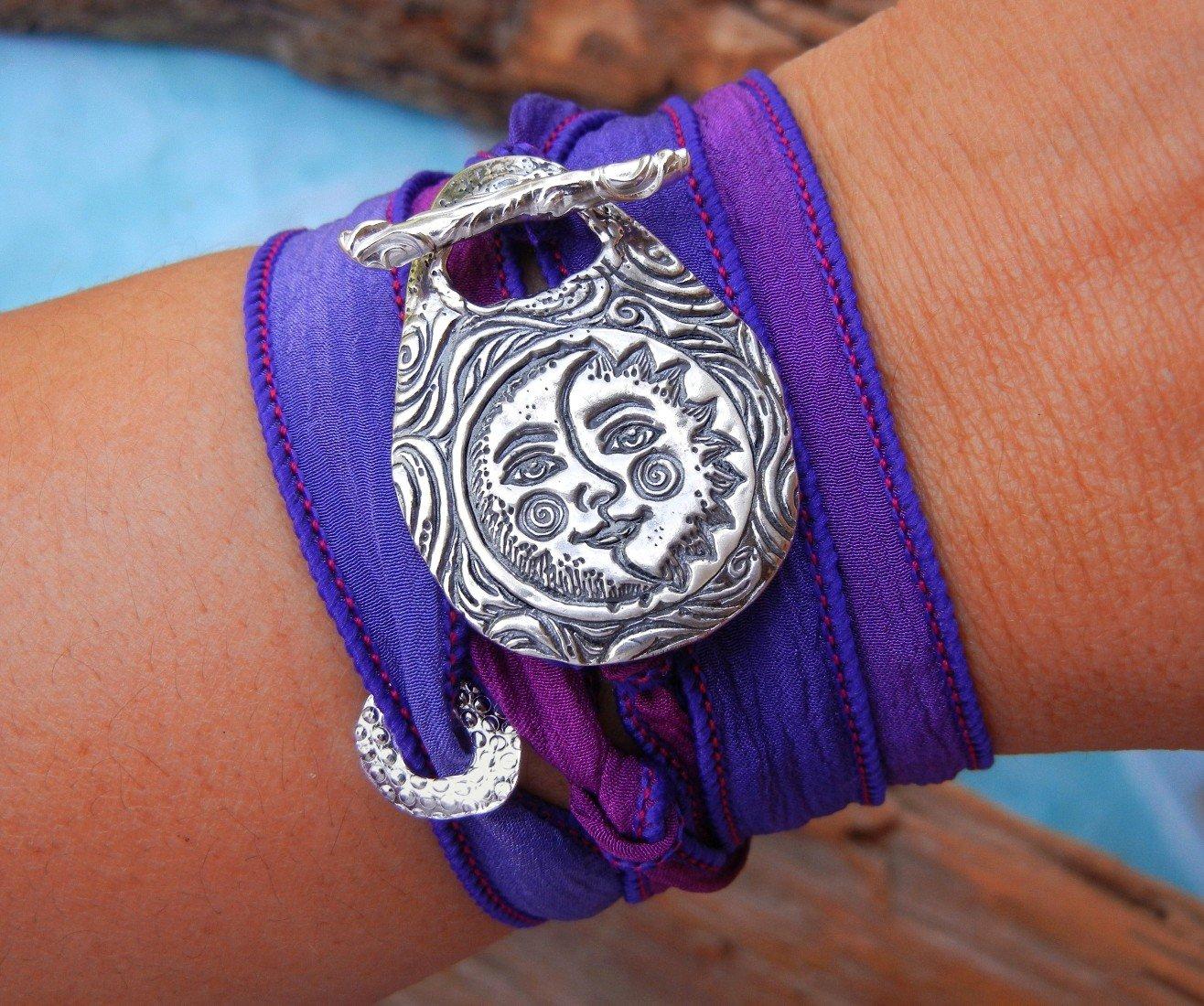 Purple bracelet silver bracelet boho bracelet purple purple jewelry bracelet purple bracelet colorful bracelet jewelry