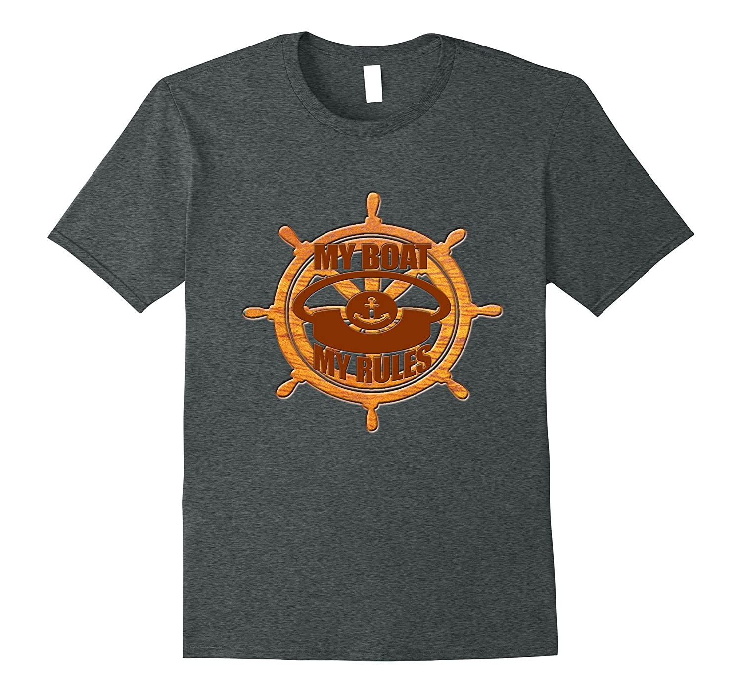 My Boat My Rules Funny Boat T-Shirt-Teevkd