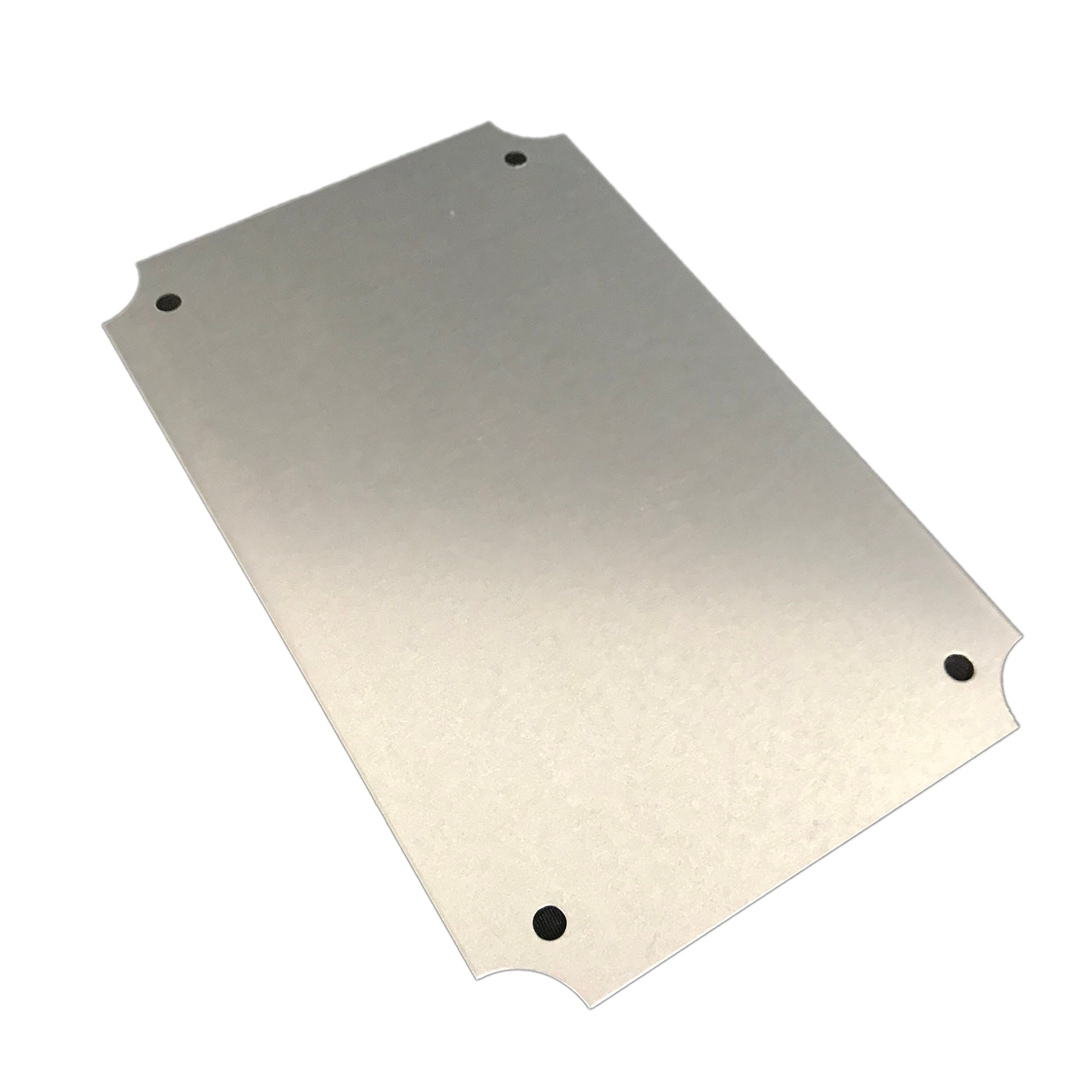 Bud Industries Steel Internal Panel – NBX-32908 Heavy Duty Electric Panel, Thick Console, Internal Mounting Hardware. Galvanized Steel Industrial Electrical Board