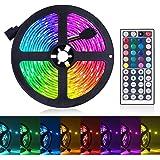 LED Strip Lights, 16.4ft RGB LED Light Strip 5050 LED Tape Lights, Color Changing LED Rope Lights with Remote for Home…