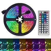 LED Strip Lights, 16.4ft RGB LED Light Strip 5050 LED Tape Lights, Color Changing...