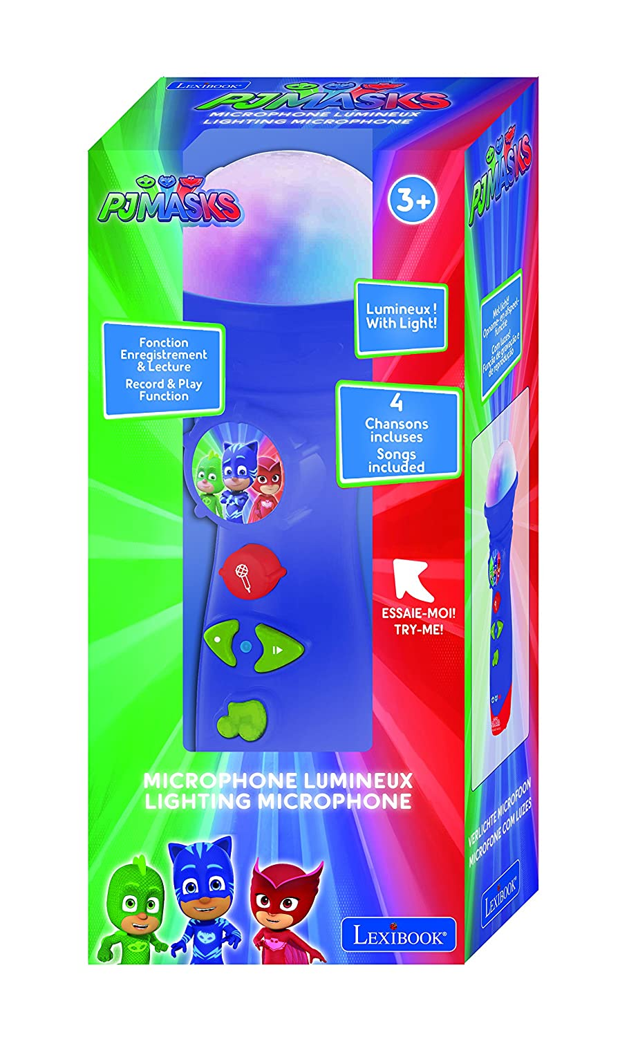 Amazon.es: Pj Mask Masks Micrófono De Juguete Luminoso, Color Azul (Lexibook MIC50PJM)