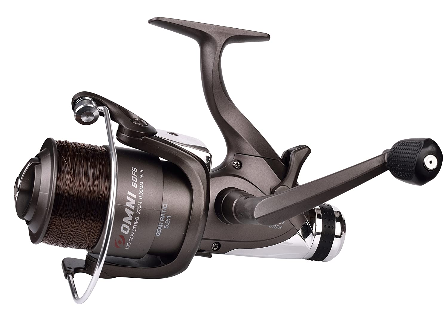 *NEW* Shakespeare Omni Freespool/Baitrunner Reel**with Free Line**Sizes:30+40+60 Carp Pike Coarse Game Fishing