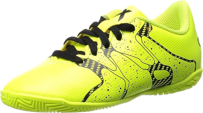 adidas X 15.4 IN J - Botas para niño, Color Lima/Negro, Talla 28: Amazon.es: Zapatos y complementos