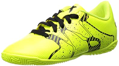 adidas X 15.4 Indoor, Chaussures de Football Garçon, Jaune - Gelb (Solar  Yellow