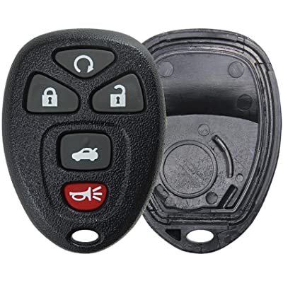KeylessOption Keyless Entry Remote Key Fob Shell Case Button Pad Cover for Chevy Impala Monte Carlo Buick Lucerne Cadillac DTS OUC60270, OUC60221: Automotive