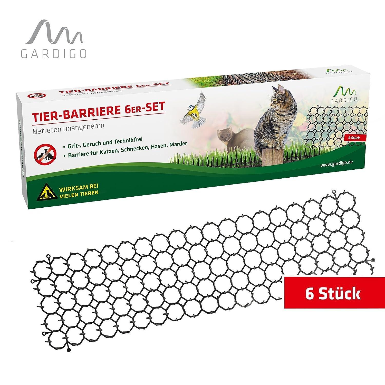 Gardigo Pinchos Antipalomas, gatos y perros | Espantapajaros | Disuasión Repelente para aves de plástico | Lote de 6 - 50 x 15 x 3 cm
