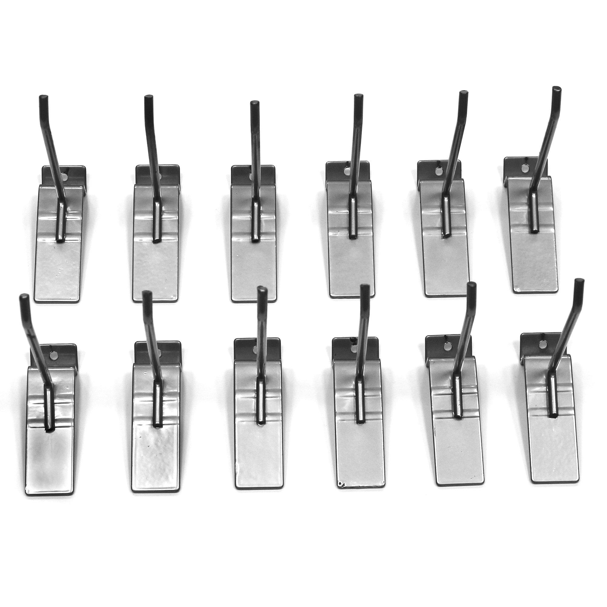 Proslat 13002 4-Inch Steel Hooks Designed for Proslat PVC Slatwall, 12-Pack