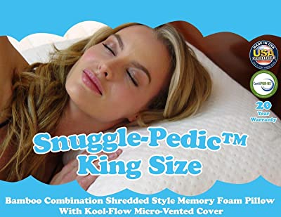 Snuggle-Pedic Ultra-Luxury Bamboo Memory Foam Pillow