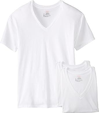 Hanes White T-Shirt Men/'s XL 100/% Cotton