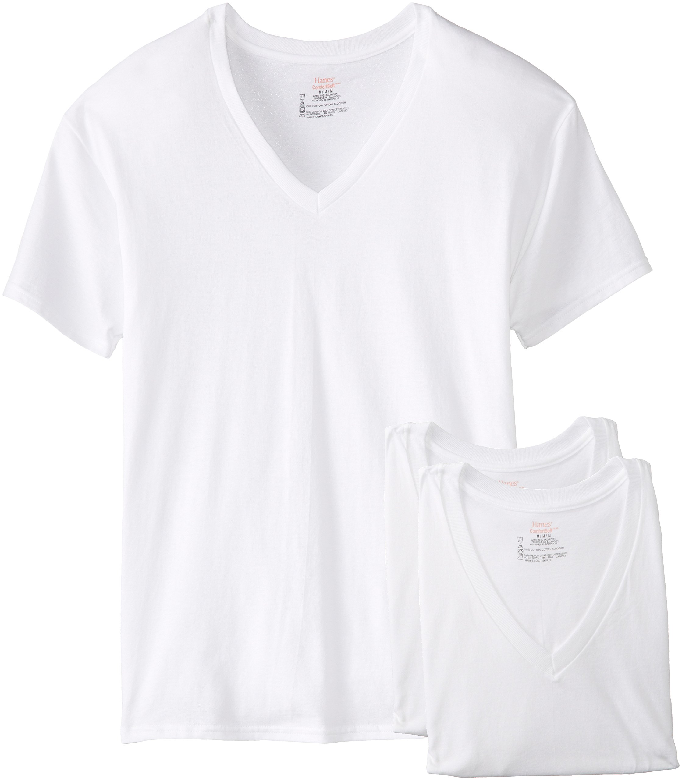 Hanes Men's 3-Pack V-Neck T-Shirt (XXX-Large Tall, White) by Hanes