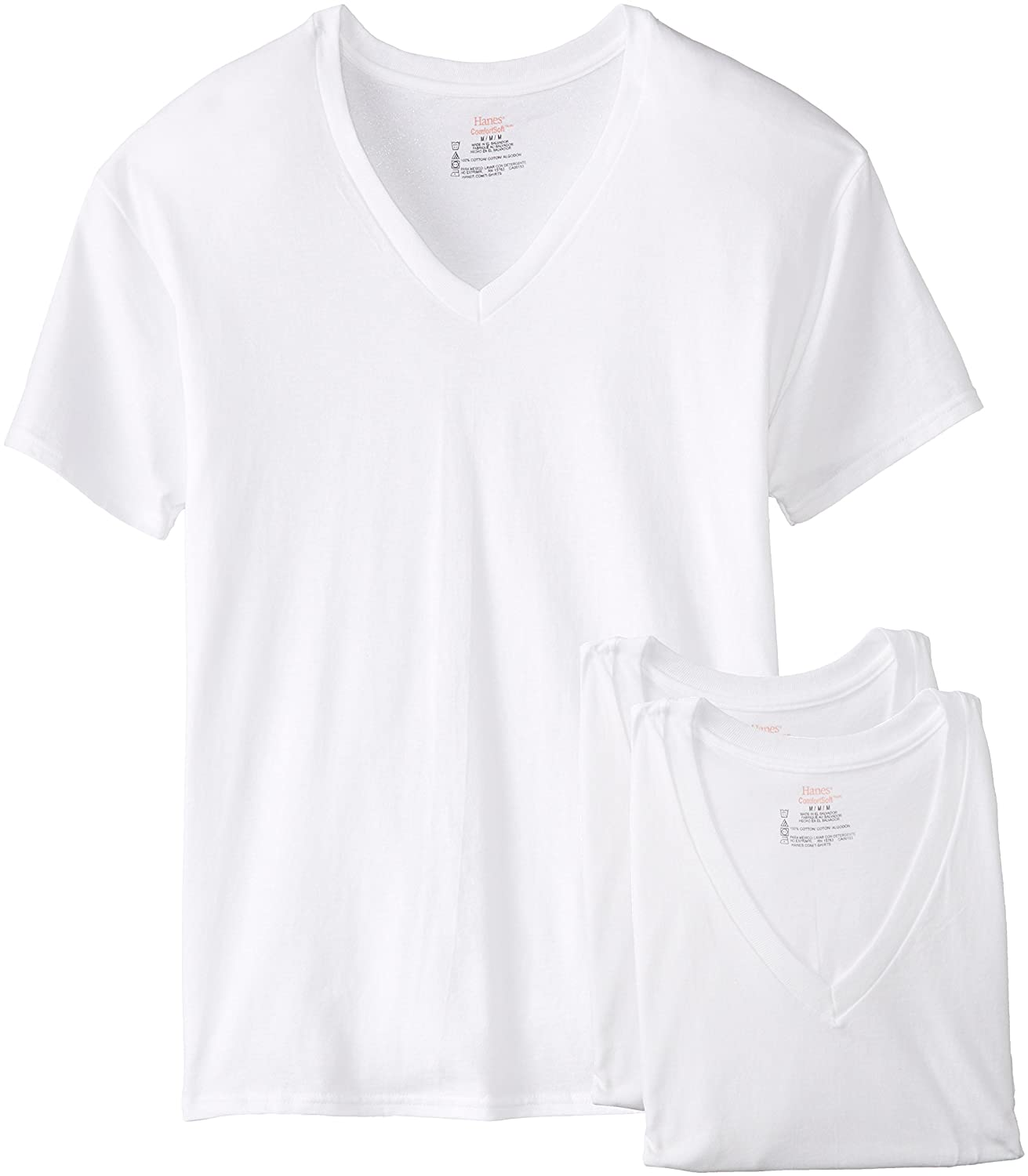 f2b875a20d1e Amazon.com  Hanes Men s 3-Pack V-Neck T-Shirt  Clothing