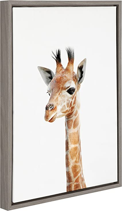 SAVANNAH GIRAFFE  Animals Canvas Wall Art Picture Large AN202 UNFRAMED-ROLLED