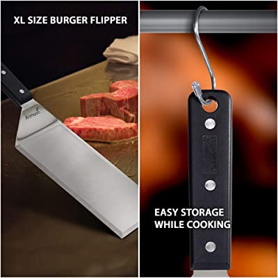 Stainless-Steel Cooking Spatula Pancake Burger BBQ Grill Scrapper Flipper Turner
