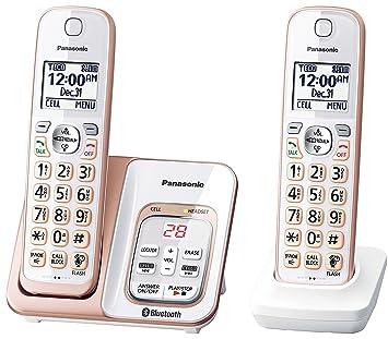 89ddd3bbff5 Panasonic kx-tgd562g link2cell Bluetooth teléfono inalámbrico con  asistencia de voz y contestador automático - 2 teléfonos inalámbricos  (Certificado ...