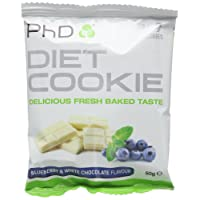 PhD Nutrition Diet Cookie, Blueberry and White Chocolate, Pack of 12 x 50g