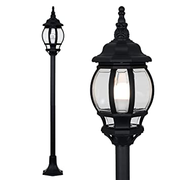 more photos 8c53a fae91 Modern Black Outdoor Garden IP44 Rated Bollard Lamp Post Light