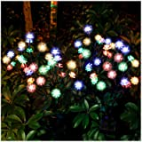 TONULAX Solar Garden Lights - Newest Solar Powered Landscape Tree Lights with Larger Solar Capacity, Solar Decorative Lights