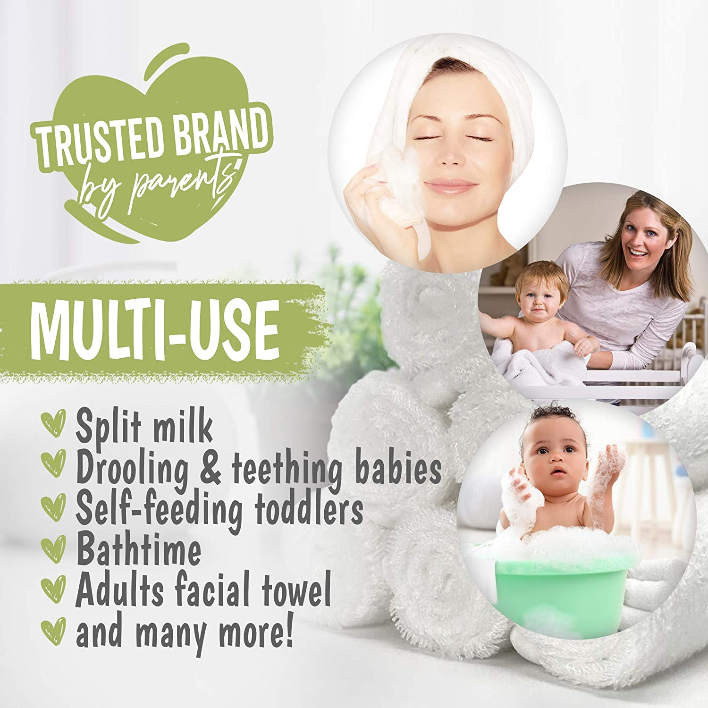 6 St/ück Kinder K/örper Beryris Bambus Waschlappen Bambus Waschlappen Babys Make-up-Entfernung 25 x 25 cm Weiche Waschlappen Flanell zum Waschen von Gesicht Erwachsene