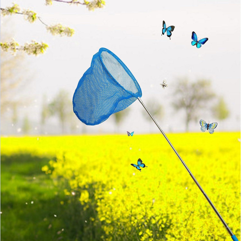 UKCOCO 6pcs Enfants Papillons Filets Insectes Attraper des Insectes Nets Filets Filets Extensibles Outils de Plein air pour gar/çons et Filles