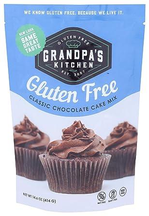 Amazon Com Grandpa S Kitchen Cake Mix Classic Chocolate 14 6 Ounce Grocery Gourmet Food