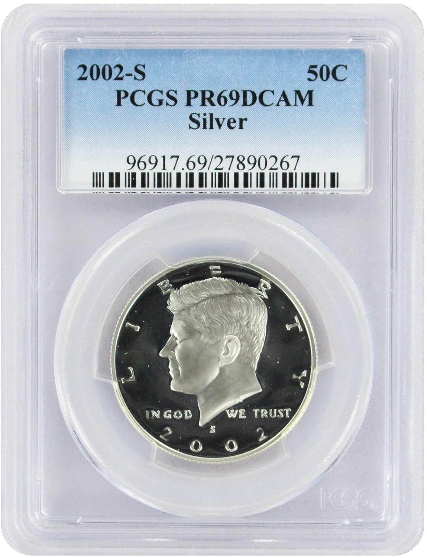 PCGS 2002-S Kennedy Half Dollar PR69DCAM Silver