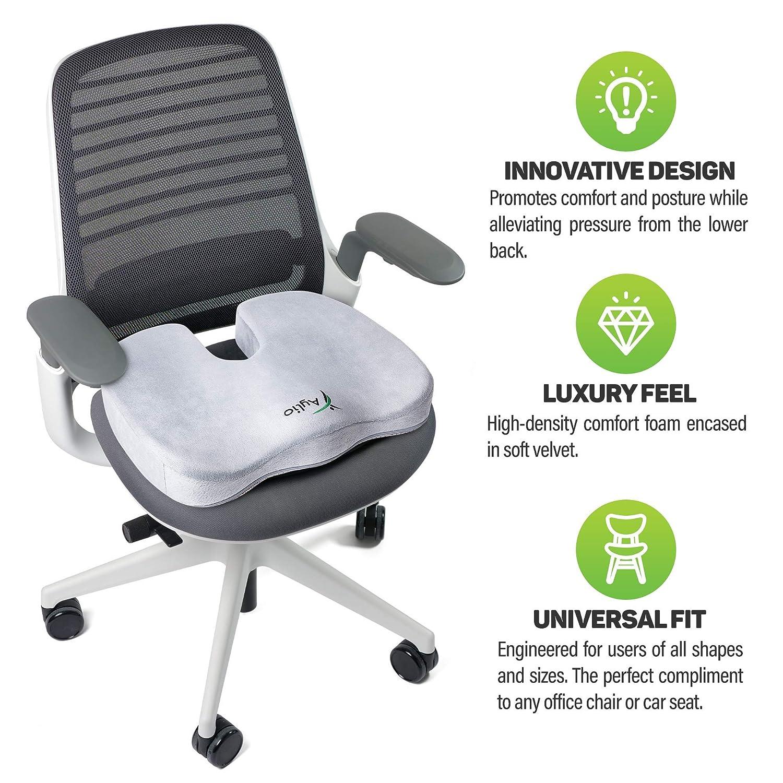 Aylio Coccyx Orthopedic Comfort Foam Seat Cushion for Lower ...
