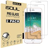 "iSOUL [2 Pack] For iPhone 6 6S 7 8 Screen Protector, 0.26mm 9H Premium Shatterproof Tempered Glass Screen Protector Anti-Shatter Film for Apple iPhone 6 6S 7 8 4.7"" inch [3D Touch Compatible] [TRUE HD]"