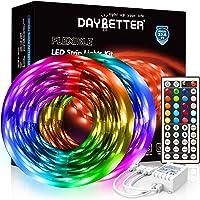 DAYBETTER Led Strip Lights 32.8ft 5050 RGB 300 LEDs Color Changing Lights Strip for Bedroom, Desk, Home Decoration, with…