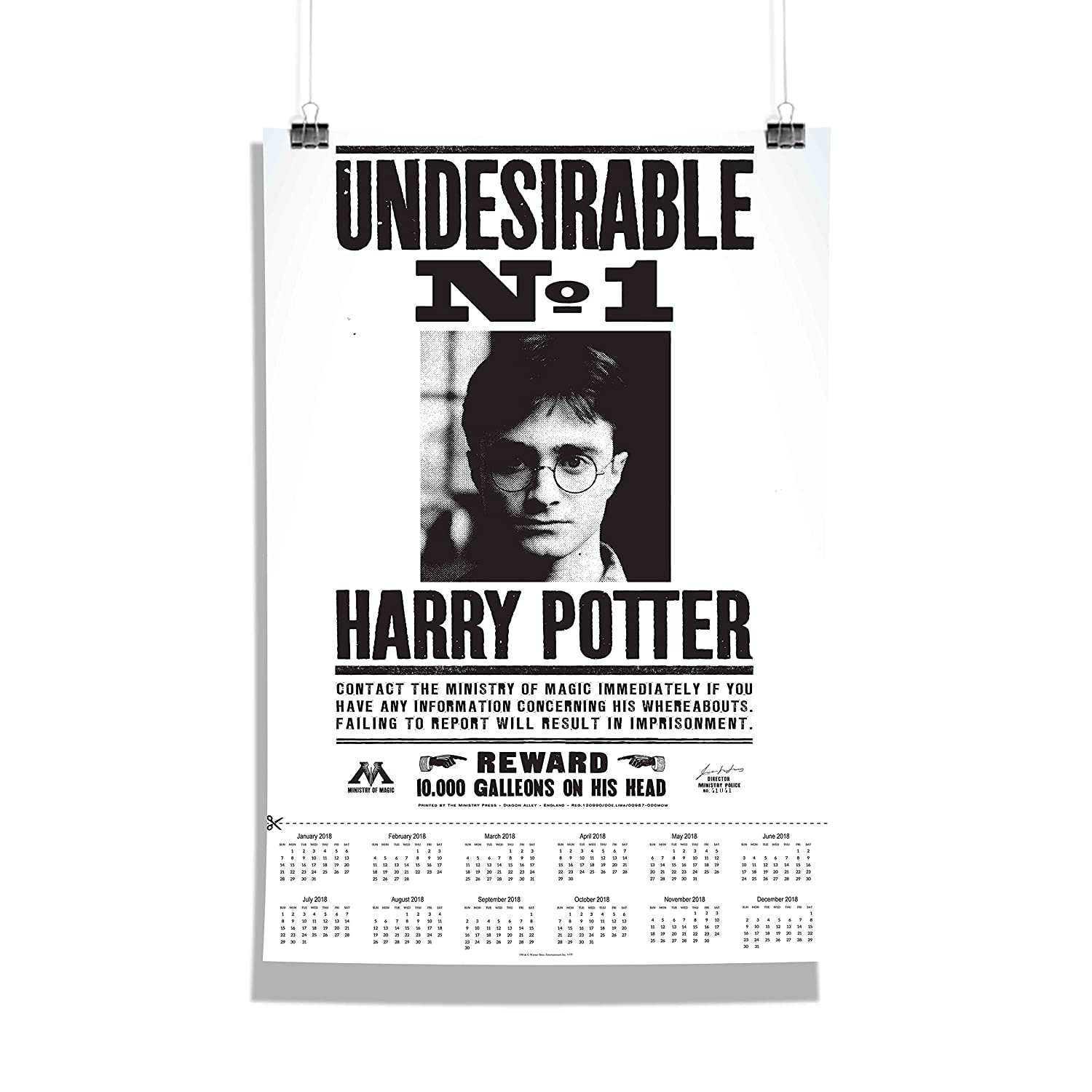 MC SID RAZZ Harry Potter Undesirable number 1 Wall Calendar (Paper ... 957869996
