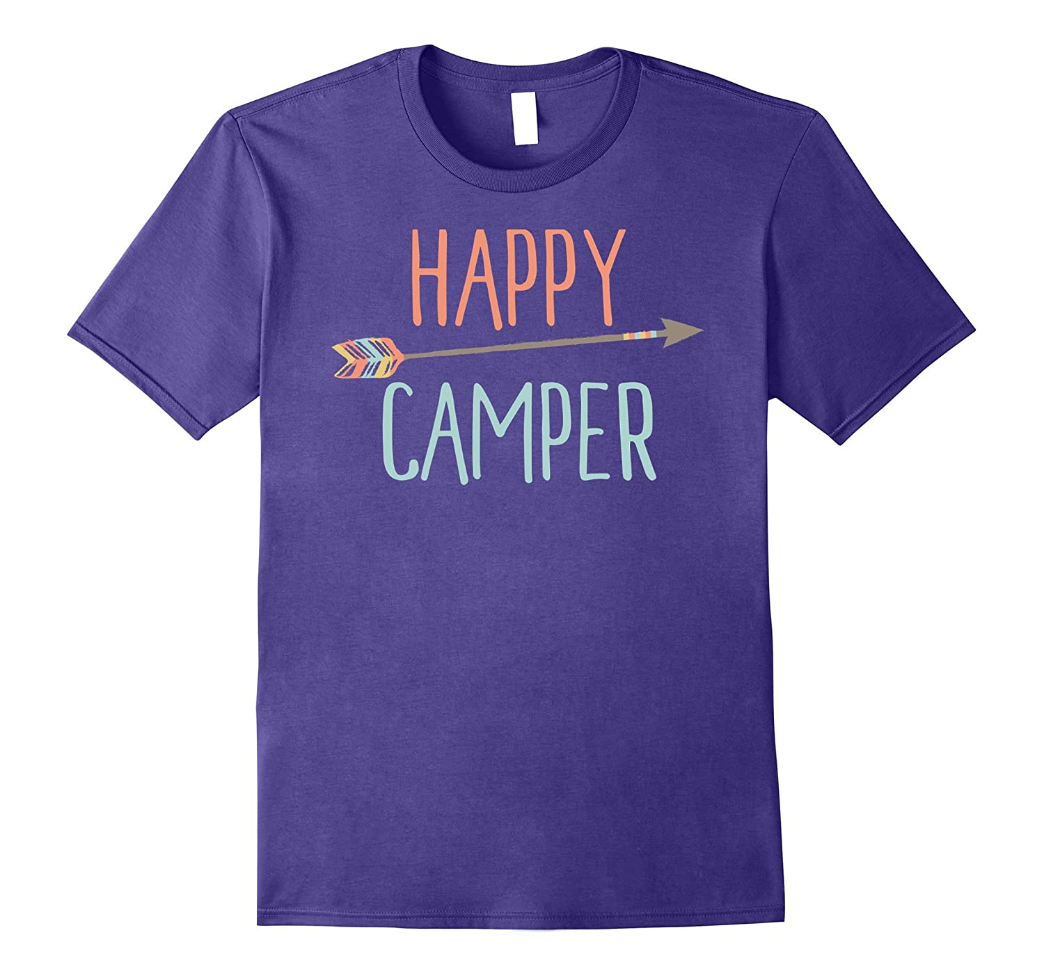 Arrow Happy Camper TShirt Camping TShirt-T-Shirt