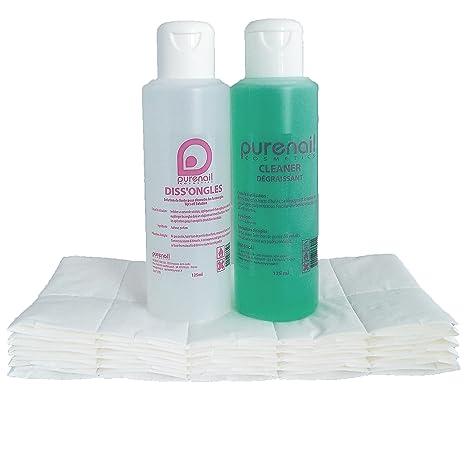 Purenail - Kit quitaesmalte para uñas (limpiador de 125 ml, acetona de 125 ml