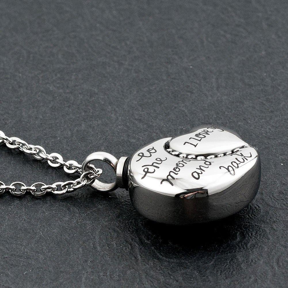 Roy Lopez i love you Cremation Urn Pendant Memorial Keepsake Necklace for Ashes
