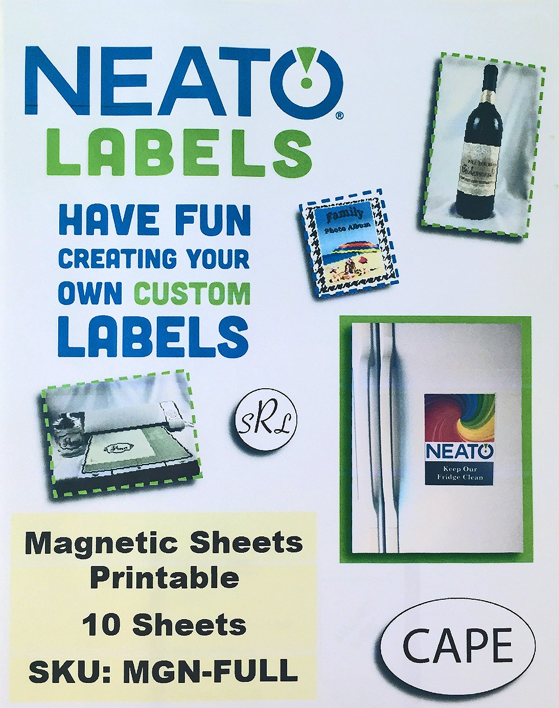 photo relating to Printable Magnetic Labels identify Neato Printable Magnetic Sheets 10 Comprehensive Sheets 8.5\u201d x 11\u201d - Achieve toward Our On-line Structure Studio Bundled