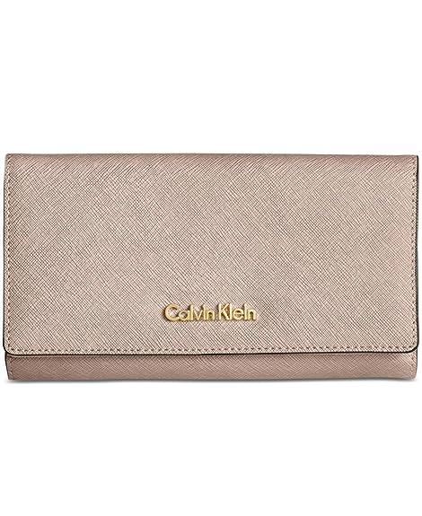Calvin Klein - Cartera para mujer mujer beige gris metálico: Amazon.es: Zapatos y complementos