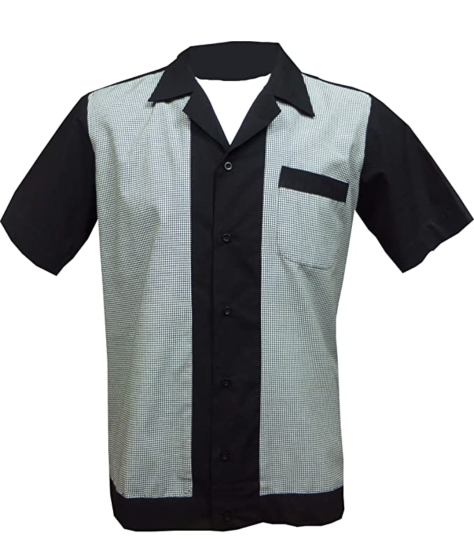 1950s Men's Clothing 1950s/1960s RockabillyBowling Retro Vintage Mens Shirt £28.99 AT vintagedancer.com
