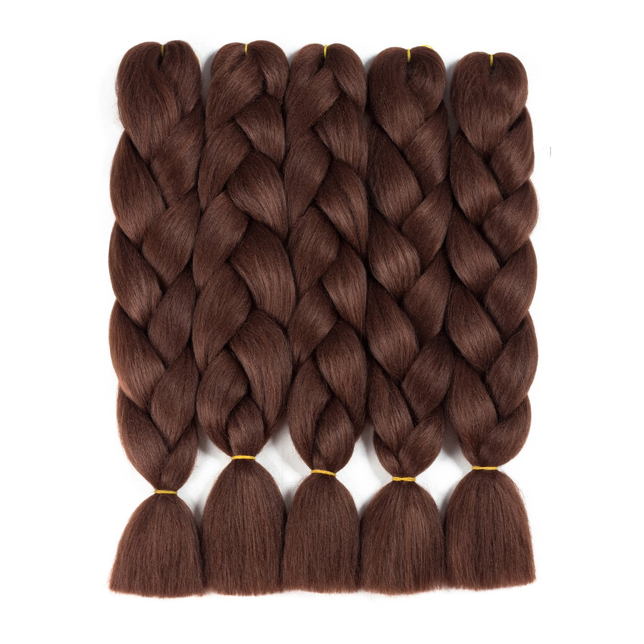Alissa Jumbo Braiding Hair Extensions High Temperature Kanekalon Synthetic Ombre Twist Hair Multiple Tone Colored Jumbo Braiding Hair (24'', Black-Blue-Azure)