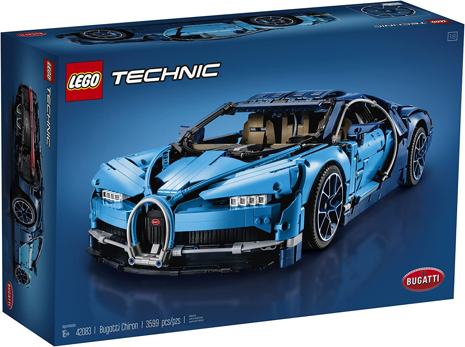 Lego Technic Bugatti Chiron 42083 Race Car Building Kit And Engineering Toy Adult Collectible Sports Car With Scale Model Engine 3599 Piece Building Sets Amazon Canada
