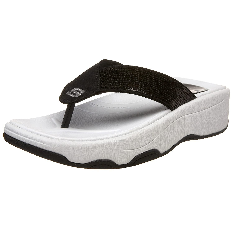 9dd9b1d0887d Skechers Women s Tone-ups - Shadow Box Black Flip Flops 38701 2 UK   Amazon.co.uk  Shoes   Bags