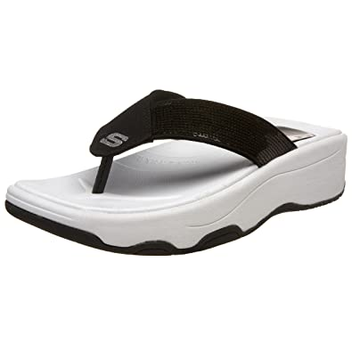 7a12347d96f7 Skechers Women s Tone-ups - Shadow Box Black Flip Flops 38701 2 UK   Amazon.co.uk  Shoes   Bags