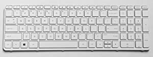 P&U New US White Laptop Keyboard For HP 719853-001 776778-001 726104-001 720597-001 708168-001