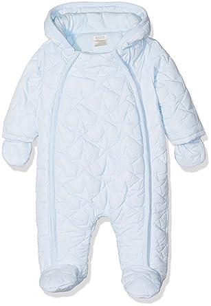 e7b9ace51bca Mamas   Papas Baby Boys  Blue Quilted Pramsuit Snowsuit  Amazon.co ...