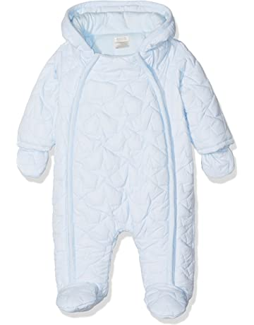 0496a26a0 Mamas & Papas Baby Boys' Blue Quilted Pramsuit Snowsuit