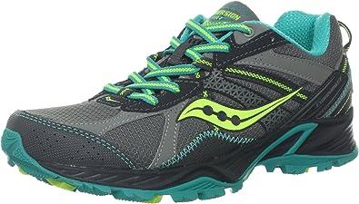 SAUCONY Grid Excursion TR 7 Zapatilla de Trail Running Señora, Gris/Verde/Azul, 36: Amazon.es: Zapatos y complementos