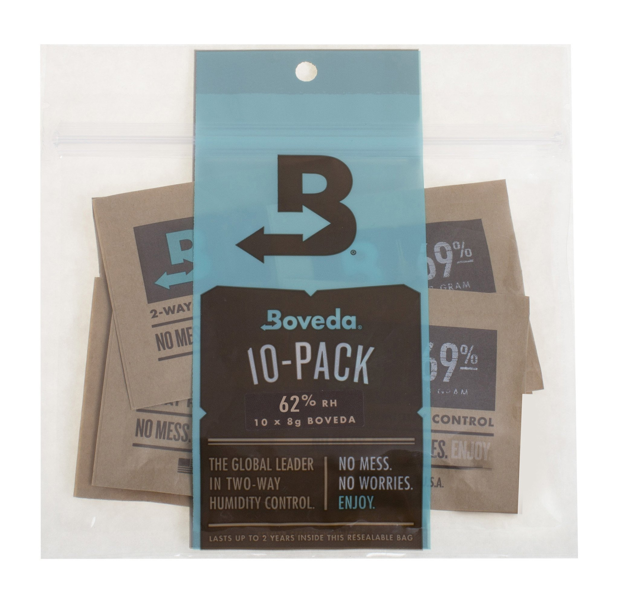 Boveda 62-Percent RH 2-Way Humidity Control, 8 Gram - 10 Pack by Boveda