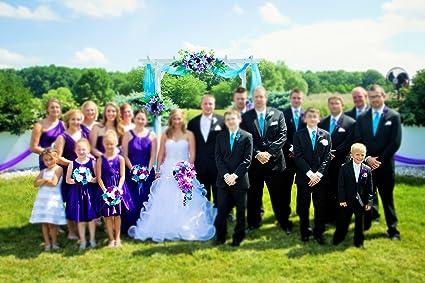 Amazoncom 17pc Wedding Bridal Party Bouquets Boutonniere