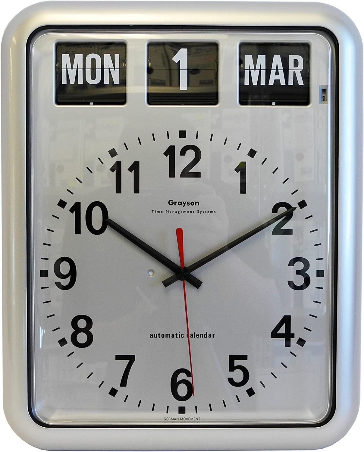 Grayson Time And Date Wall Clock Perpetual Calendar G237a Dementia And Alzheimer S Clock Amazon Co Uk Kitchen Home