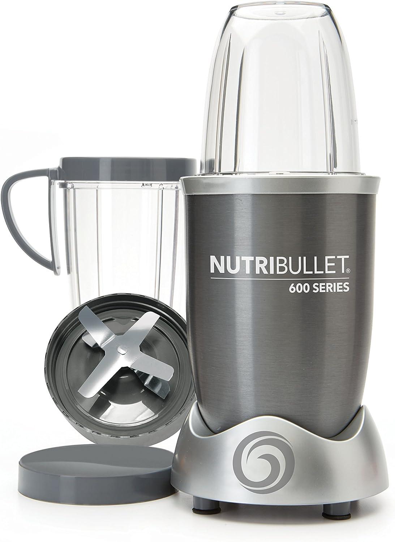 NutriBullet NUTRI600G Batidora de vaso 950L 600W Gris - Licuadora (950 L, 21500 RPM, Batidora de vaso, Gris, De plástico, Acero inoxidable)