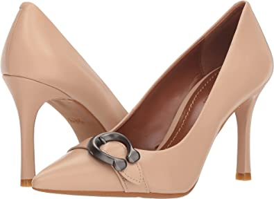 b664873770 Coach Women's Waverly 85mm Pump with Signature Buckle Beechwood Leather 5  ...