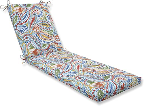 Pillow Perfect Outdoor Indoor Ummi Multi Chaise Lounge Cushion 80x23x3,Multicolored